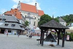 Kamienice i Rynek Główny w Kazimierzu Dolnym